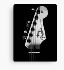 Fender Stratocaster in Black and White Canvas Print