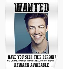 wanted: grant gustin Poster