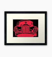 Red MBZ Car Artwork Framed Print