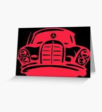 Red MBZ Car Artwork Greeting Card