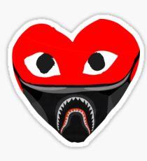 heart mask shark Sticker
