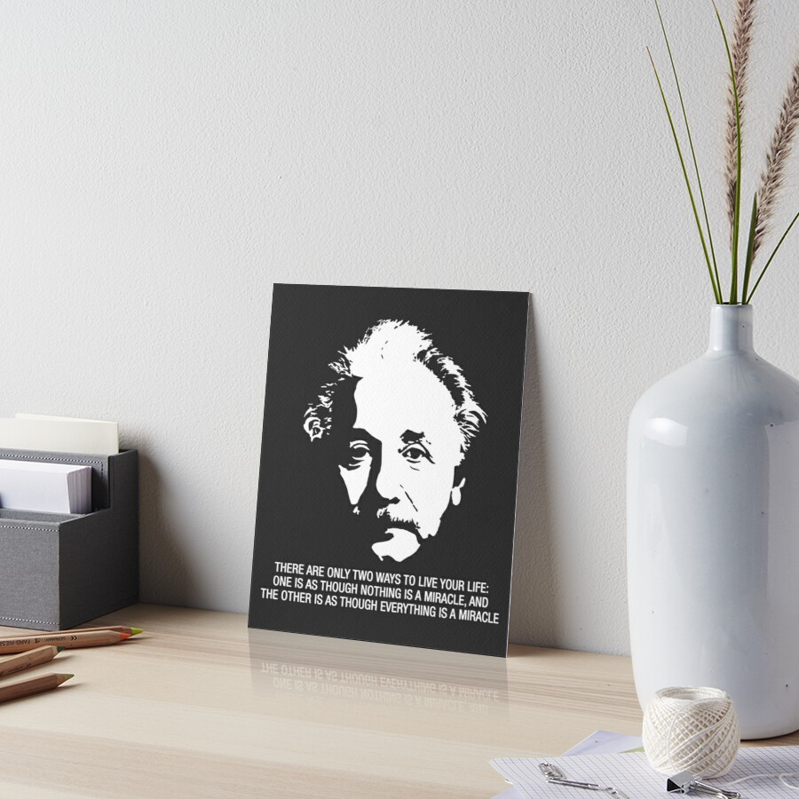 Albert Einstein Quote Art Boards By Recoverygift Redbubble
