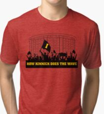 How Kinnick Does The Wave Dance Marathon Fundraiser Tri-blend T-Shirt