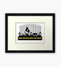 How Kinnick Does The Wave Framed Print