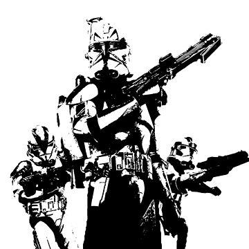 501st Trooper Silk Screen by PenstareOutlet