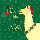 Llinda the Singing Holiday Llama by PegOHagan