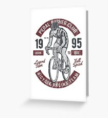 BICYCLE RACER - Bike Biker Cyclist und Fahrrad Shirt Motiv Greeting Card