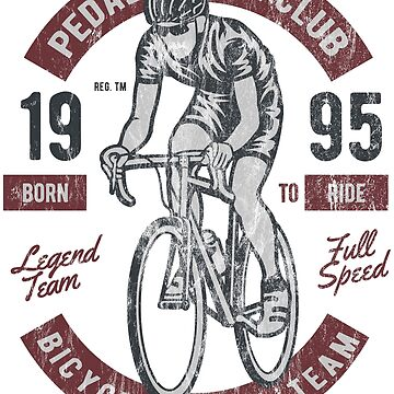 BICYCLE RACER - Vintage Bike Biker Cyclist and Bike Shirt by superiors-shop