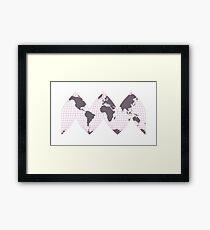 The Earth is...Curvy Framed Print