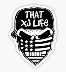 That XJ Life Skull/Flag Sticker