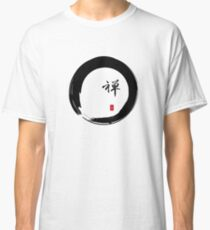 """Zen"" calligraphy & Enso circle of enlightenment Classic T-Shirt"