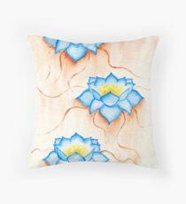 Blue Lilies Floor Pillow