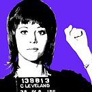 Jane Fonda Mug Shot - Purple by Gary Hogben