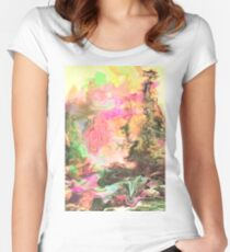 Raw Moss Women's Fitted Scoop T-Shirt