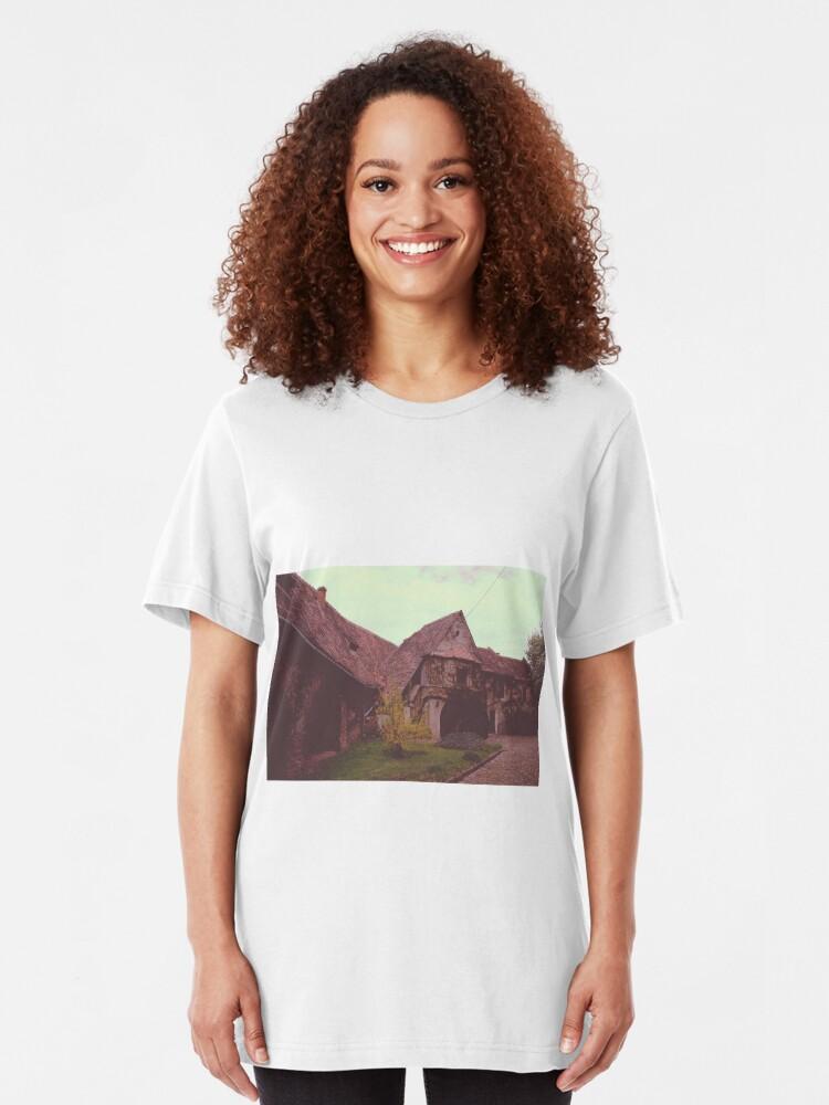 Vista alternativa de Camiseta ajustada Church castle
