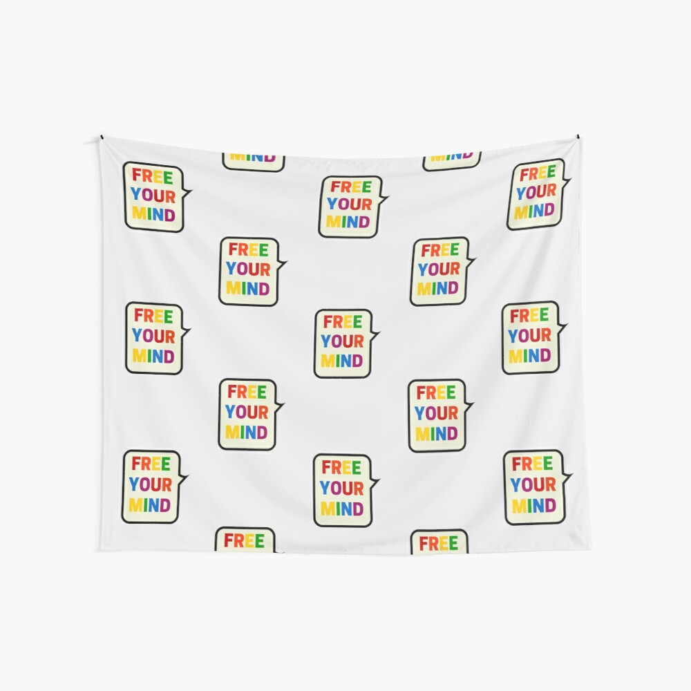 FREE YOUR MIND BUBBLE Wall Tapestry
