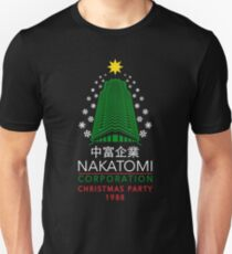 Nakatomi Corporation Christmas Party Snowflake Tower T-Shirt