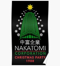 Nakatomi Corporation Christmas Party Snowflake Tower Poster