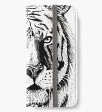 White tiger iPhone Wallet/Case/Skin