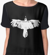 the crow- it cant't rain all the time Chiffon Top