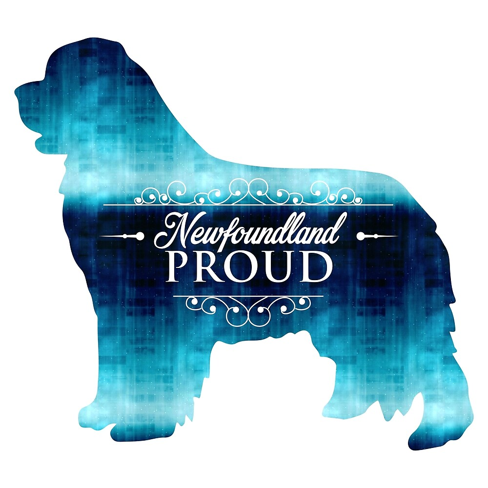 Newfoundland Proud in Blue! by Christine Mullis
