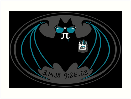 Vampire Bat With Pi Symbol Fangs Celebrates Pi Day Art Prints By