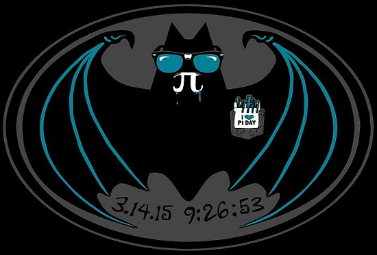 Vampire Bat With Pi Symbol Fangs Celebrates Pi Day Posters By
