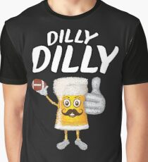 Dilly Dilly Funny Football & Beer  Graphic T-Shirt