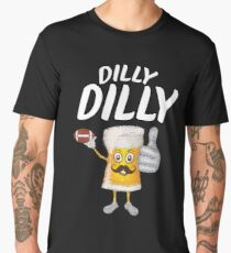Dilly Dilly Funny Football & Beer  Men's Premium T-Shirt