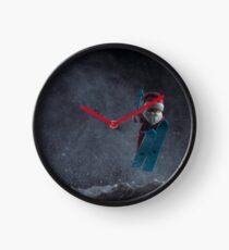 Ski-sons Greetings Clock