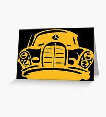 Orange MBZ Car Artwork Greeting Card