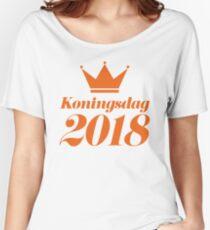 Koningsdag Crown 2018 - King's Day Netherlands Celebration Nederland Women's Relaxed Fit T-Shirt