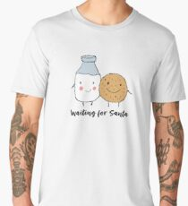 Funny Waiting For Santa Design Men's Premium T-Shirt