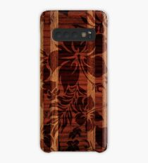 Funda/vinilo para Samsung Galaxy Keokea Beach Faux Wood Hawaiian Surfboard