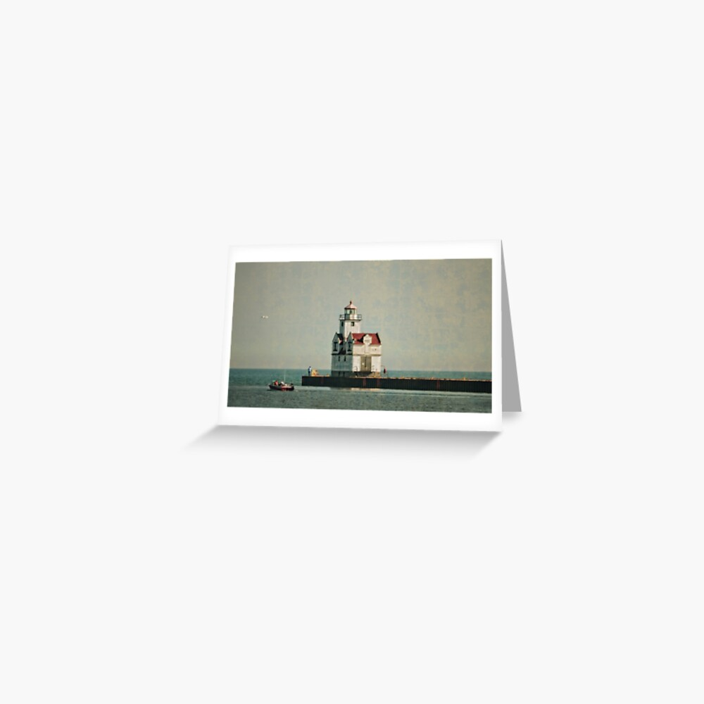 Lighthouse - Manitowoc, WI Greeting Card
