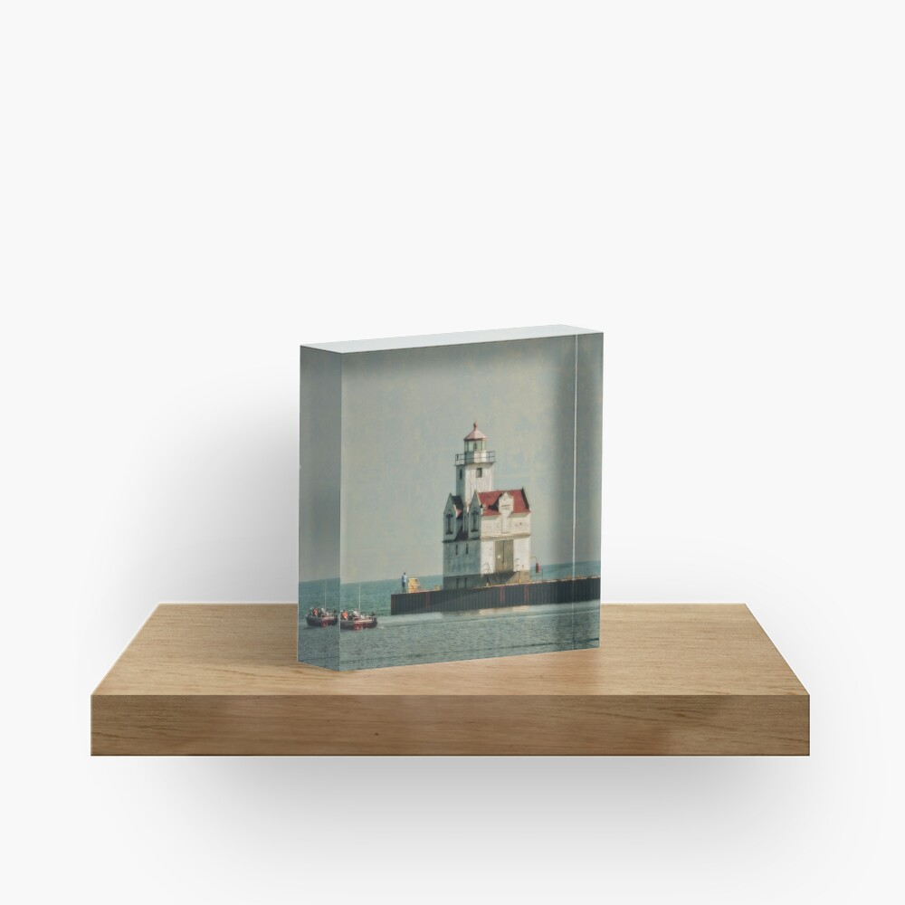 Lighthouse - Manitowoc, WI Acrylic Block