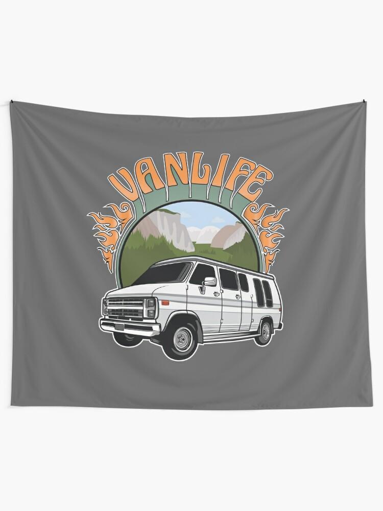 Vista alternativa de Tela decorativa Van Life en Yosemite