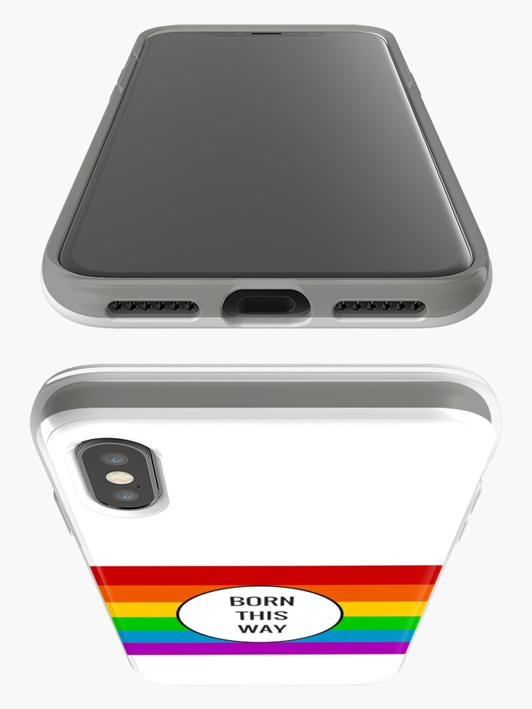 Alternate view of Born This Way ~ Rainbow iPhone Cases & Covers