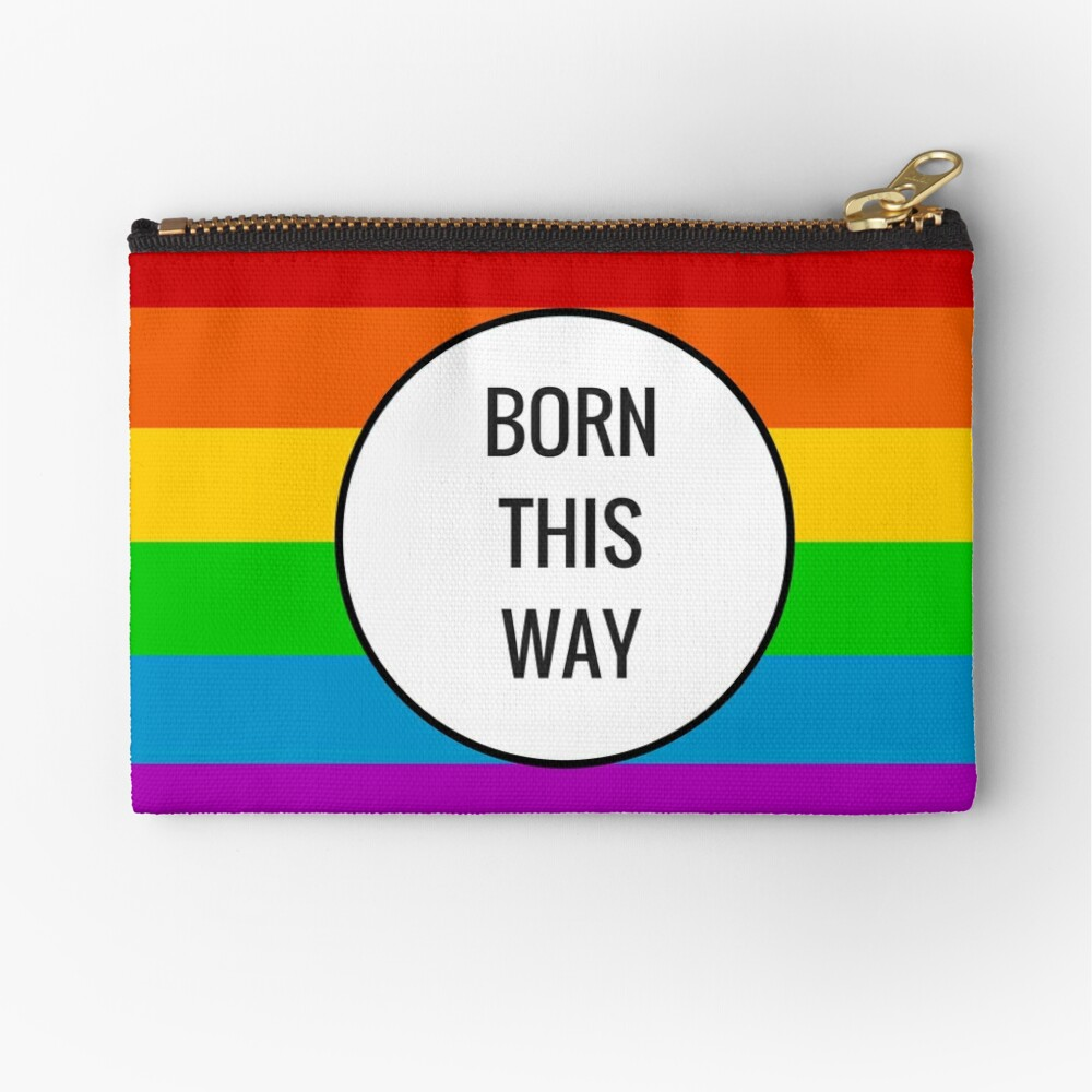 Born This Way ~ Rainbow Zipper Pouch