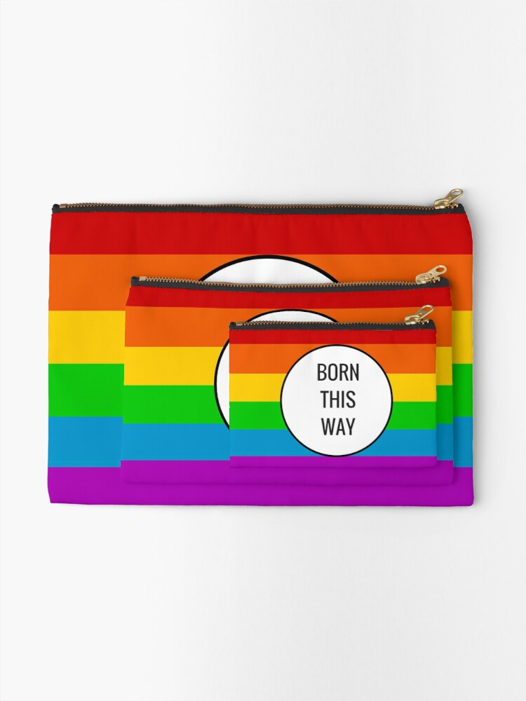 Alternate view of Born This Way ~ Rainbow Zipper Pouch