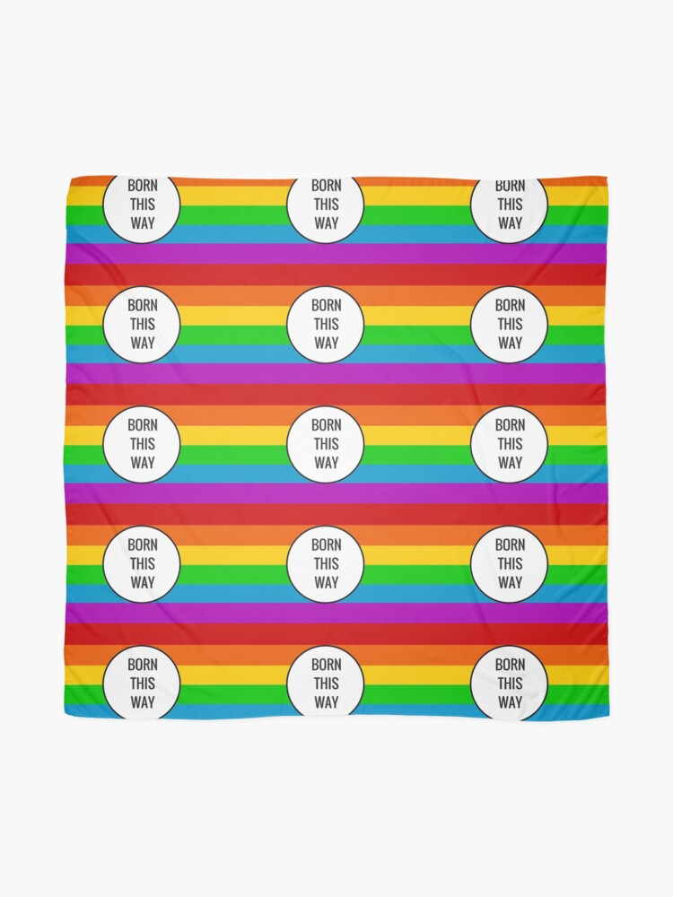 Alternate view of Born This Way ~ Rainbow Scarf