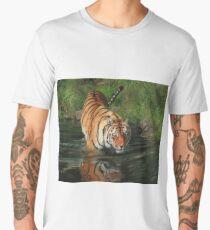 Tiger Entering The River Men's Premium T-Shirt