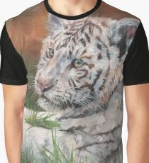 Young White Tiger Graphic T-Shirt