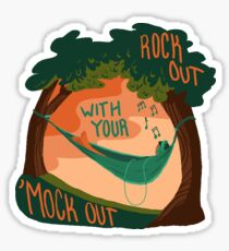 Rock Out With Your 'Mock Out Sticker