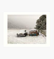Winter Wrecks Art Print