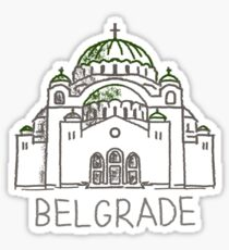 Belgrade Serbia Sticker