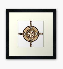Compass Vector Framed Print