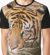 Tiger playing in some water Graphic T-Shirt