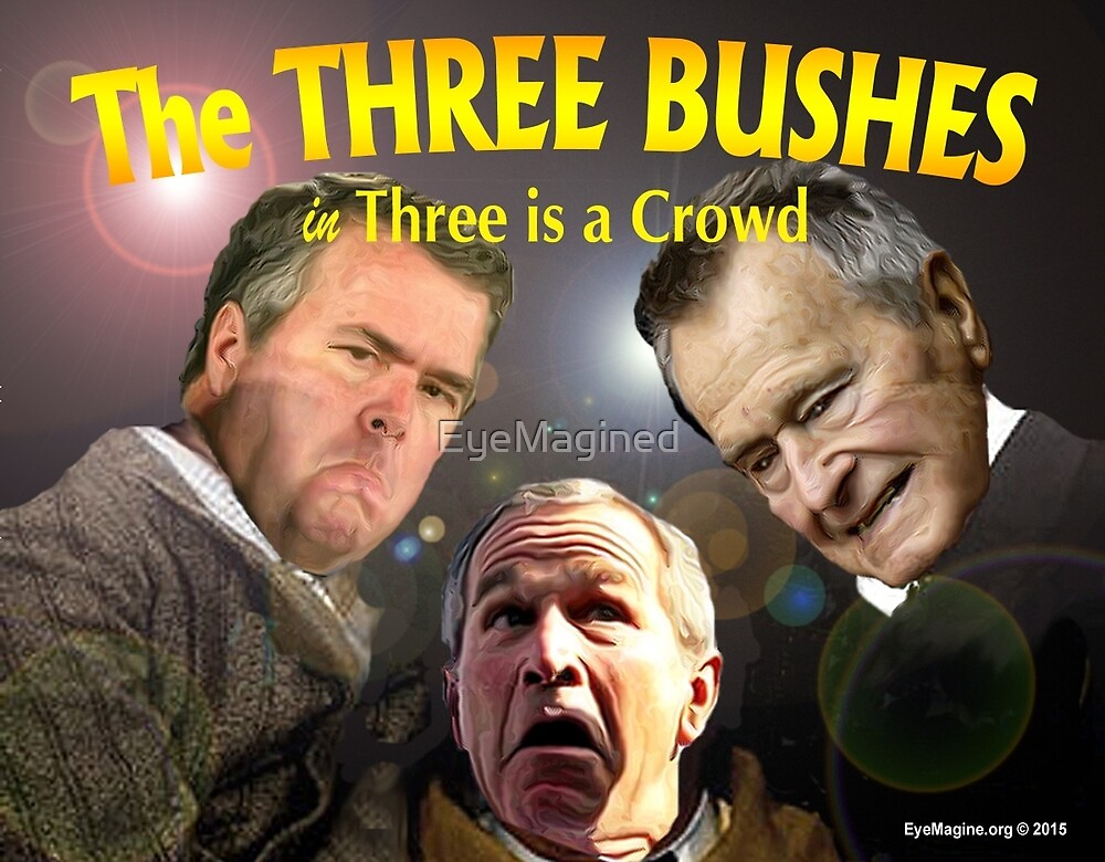 """The Three Bushes in """"Three is a Crowd"""" by EyeMagined"""