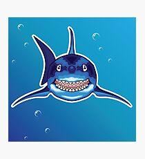 Shark Cartoon Photographic Print